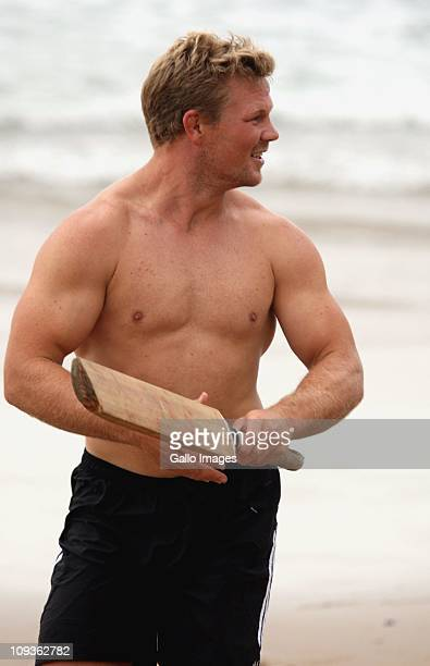 Daniel Braid during the Blues training session at Umhlanga beach on February 23, 2011 in Umhlanga, South Africa.