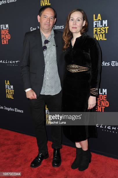 Daniel Braun and Jennifer Cochis arrive at the 2018 LA Film Festival opening night premiere of Echo In The Canyon at John Anson Ford Amphitheatre on...