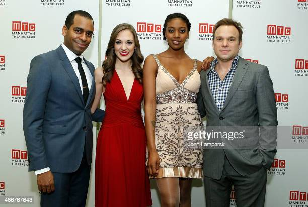 Daniel Breaker Laura Osnes Condola Rashad and Norbert Leo Butz attend Manhattan Theatre Club's 2014 Winter Benefit at Manhattan Theater Club on...