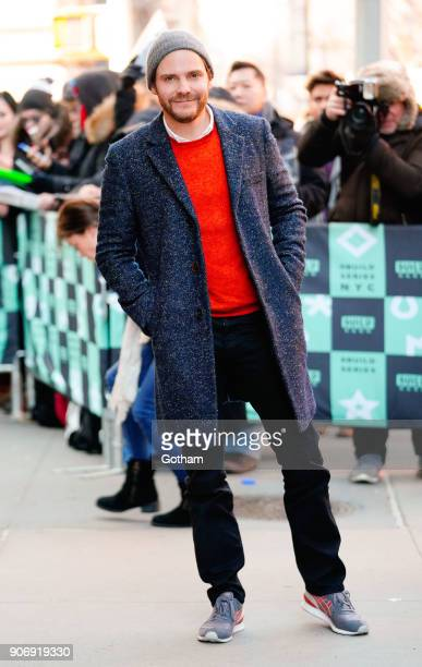 Daniel Brühl arrives at AOL Build on January 18 2018 in New York City