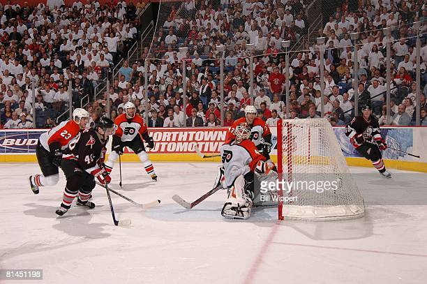 Daniel Briere goal double overtime game winner Hockey NHL Playoffs Buffalo Sabres Daniel Briere in action scoring game winning goal during of double...
