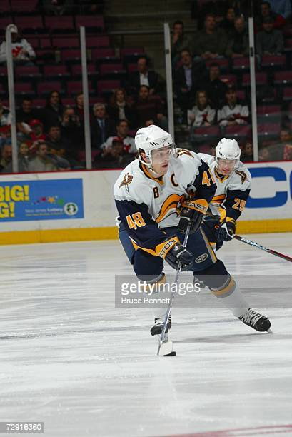 43b55cba4 Daniel Briere of the Buffalo Sabres skates with the puck against the New  Jersey Devils on