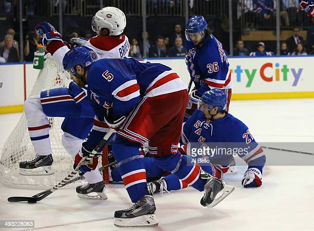 Daniel Briere of the Montreal Canadiens celebrates his third period goal against the Montreal Canadiens Game Three of the Eastern Conference Final...