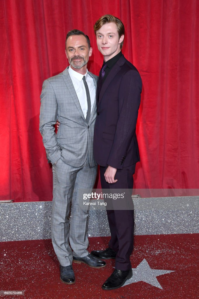 Daniel Brocklebank and Rob Mallard attend the British Soap Awards at The Lowry Theatre on June 3, 2017 in Manchester, England.