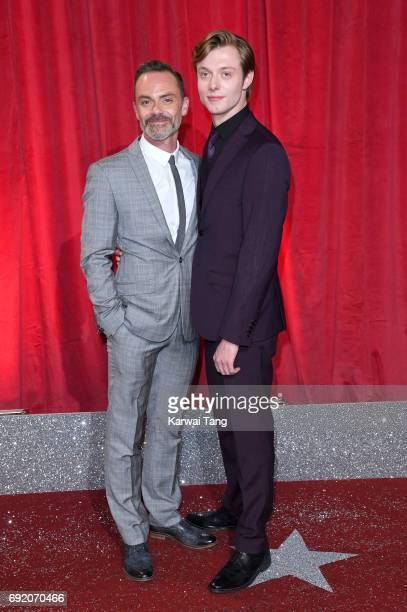 Daniel Brocklebank and Rob Mallard attend the British Soap Awards at The Lowry Theatre on June 3 2017 in Manchester England