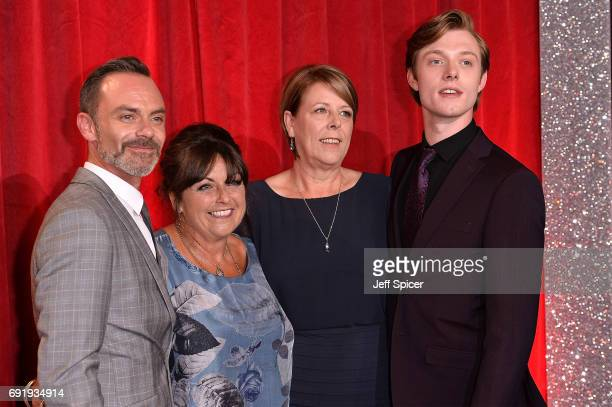 Daniel Brocklebank Tracy Brocklebank Maureen Mallard and Rob Mallard attend The British Soap Awards at The Lowry Theatre on June 3 2017 in Manchester...