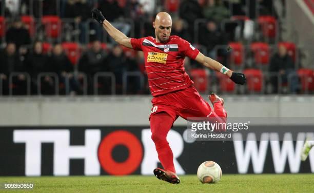Daniel Brueckner of Erfurt during the 3Liga match between FC Rot Weiss Erfurt and 1FC Magdeburg at Arena Erfurt on January 22 2018 in Erfurt Germany