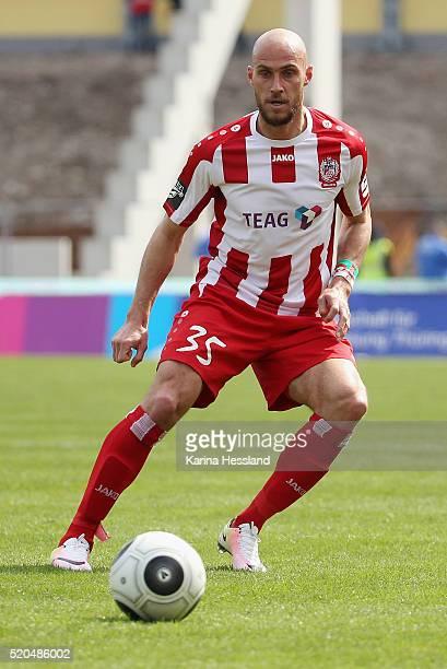 Daniel Brueckner of Erfurt during the Third League match between FC Rot Weiss Erfurt and VFL Osnabrueck at Steigerwald Stadium on April 09 2016 in...