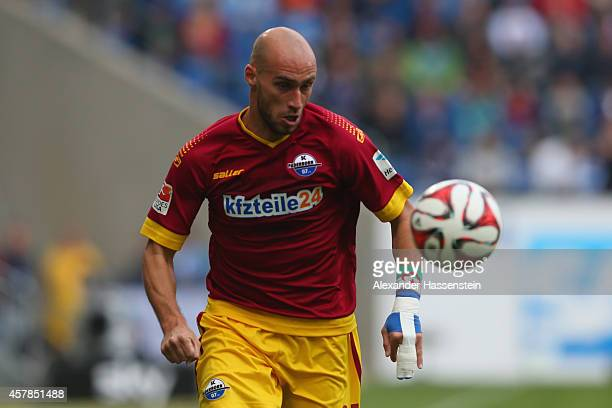 Daniel Brueckner of Paderborn runs with the ball during the Bundesliga match between TSV 1899 Hoffenheim and SC Paderborn 07 at Wirsol...