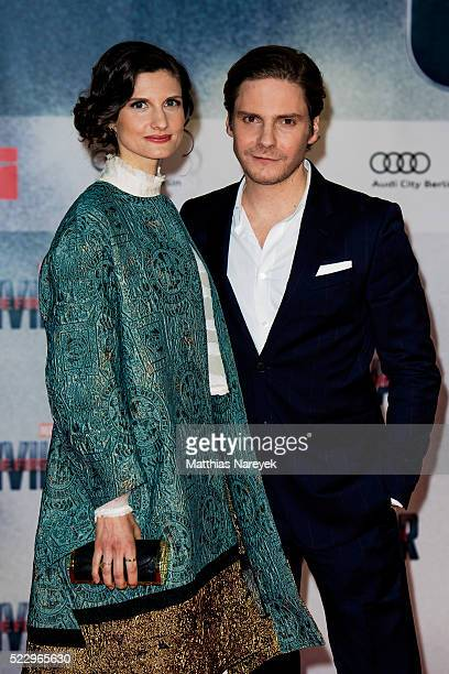 Daniel Bruehl and Felicitas Rombold attend the 'The First Avenger Civil' War Berlin Premiere at Sony Centre on April 21 2016 in Berlin Germany