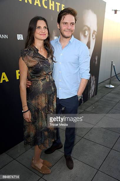 Daniel Bruehl and his girlfriend Felicitas Rombold attend the reception for UFA Film Nights on August 24 2016 in Berlin Germany