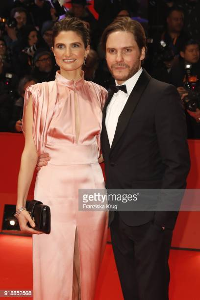 Daniel Bruehl and his partner Felicitas Rombold attend the Opening Ceremony 'Isle of Dogs' premiere during the 68th Berlinale International Film...
