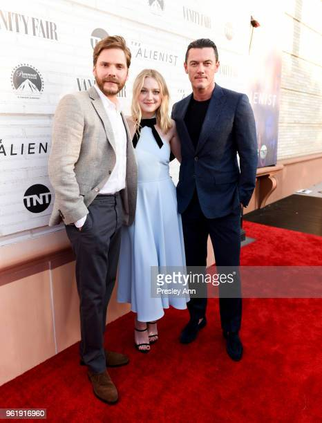 Daniel Bruehl Dakota Fanning and Luke Evans attend Emmy For Your Consideration Red Carpet Event For TNT's 'The Alienist' Red Carpet at Wallis...