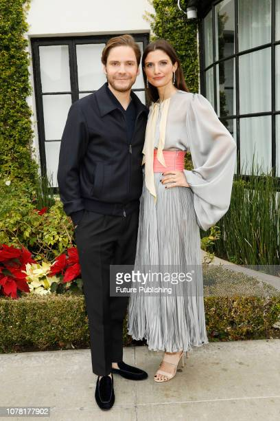 Daniel Bruehl Felicitas Rombold are photographed arriving at the 6th annual Gold Meets Golden party hosted by Nicole Kidman and Nadia Comaneci at The...