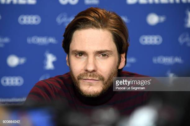 Daniel Bruehl is seen at the '7 Days in Entebbe' press conference during the 68th Berlinale International Film Festival Berlin at Grand Hyatt Hotel...