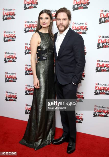 Daniel Bruhl and Felicitas Rombold attend the Rakuten TV EMPIRE Awards 2018 at The Roundhouse on March 18 2018 in London England