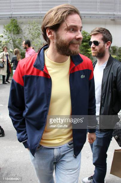 Daniel Bruhl attends the men's final between Rafael Nadal of Spain and Dominic Thiem of Austria during day 15 of the 2019 French Open at Roland...