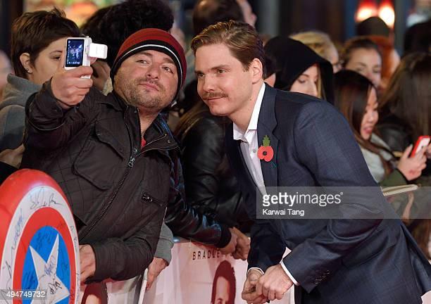 Daniel Bruhl attends the UK Film Premiere of 'Burnt' at Vue West End on October 28, 2015 in London, England.