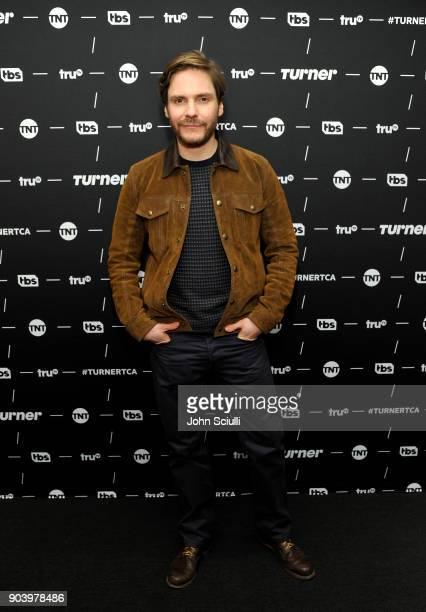 Daniel Bruhl of 'The Alienist' poses in the green room during the TCA Turner Winter Press Tour 2018 Presentation at The Langham Huntington Pasadena...