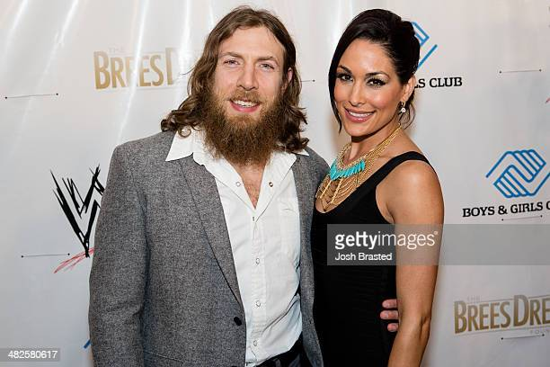 Daniel Bryan and Brie Bella attend WWE's 2014 SuperStars For Kids at the New Orleans Museum of Art on April 3, 2014 in New Orleans.