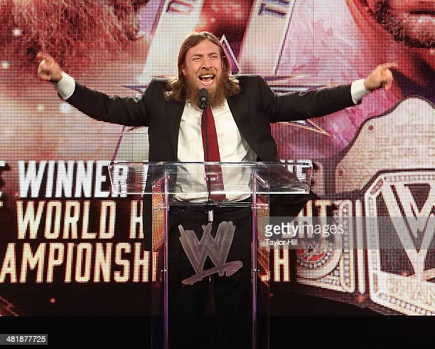 Daniel Bryan attends the WrestleMania 30 press conference at the Hard Rock Cafe New York on April 1, 2014 in New York City.