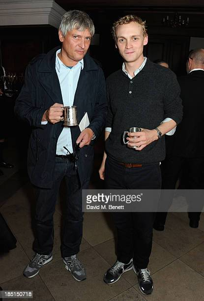 Daniel Buchholz and Peter Currie attend the Alexander McQueen and Frieze Dinner to celebrate the Frieze Art Fair 2013 on October 17 2013 in London...