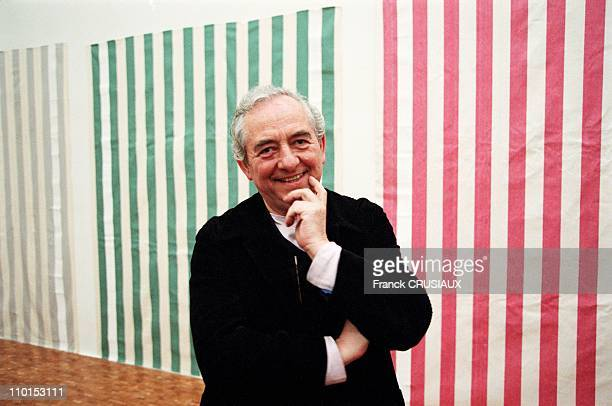 Daniel Buren presents his exhibition in Villeneuve d'Ascq France on January 21 2000
