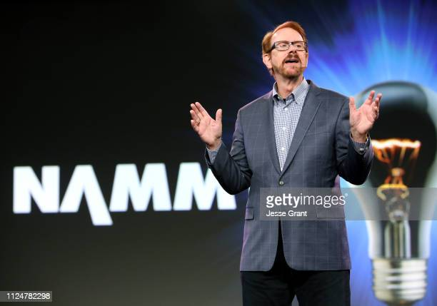 Daniel Burrus speaks onstage at the Breakfast Session during the 2019 NAMM Show at the Anaheim Convention Center on January 25 2019 in Anaheim...