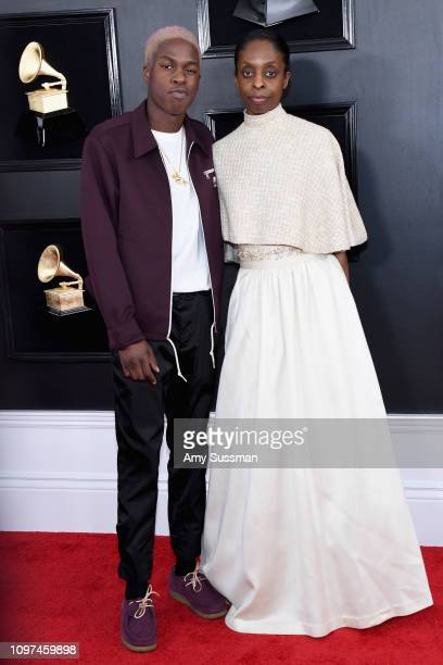 Daniel Caesar and guest attend the 61st Annual GRAMMY Awards at Staples Center on February 10 2019 in Los Angeles California