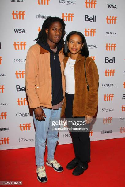 Daniel Caesar and guest attend the 'Mid90s' Premiere during 2018 Toronto International Film Festival at Ryerson Theatre on September 9 2018 in...