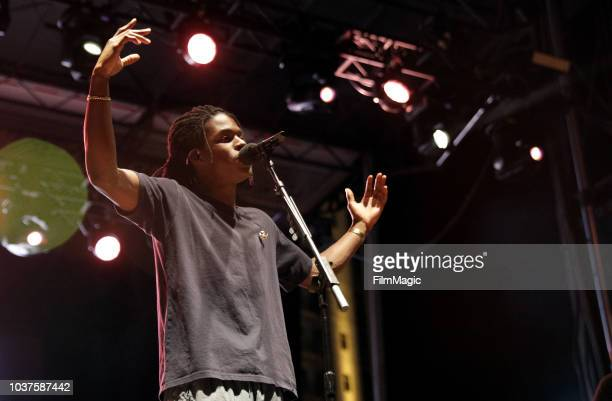 Daniel Caesar performs on Huntridge Stage during the 2018 Life Is Beautiful Festival on September 21 2018 in Las Vegas Nevada
