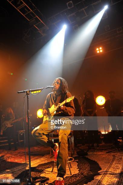 Daniel Caesar performs on stage at KOKO on February 5 2018 in London England