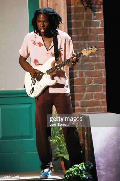 Daniel Caesar performs onstage at the 2018 BET Awards at Microsoft Theater on June 24 2018 in Los Angeles California