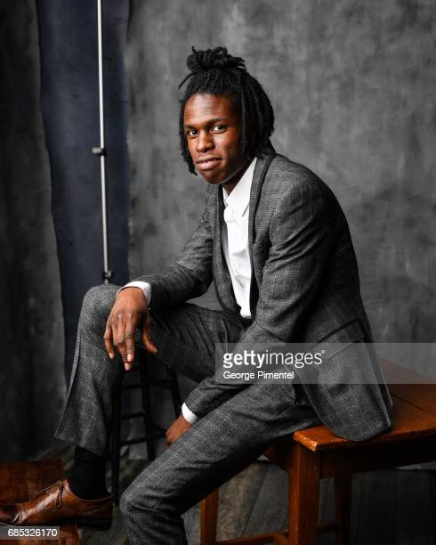 Daniel Caesar poses at the 2017 Juno Awards Portrait Studio at the Canadian Tire Centre on April 1 2017 in Ottawa Canada