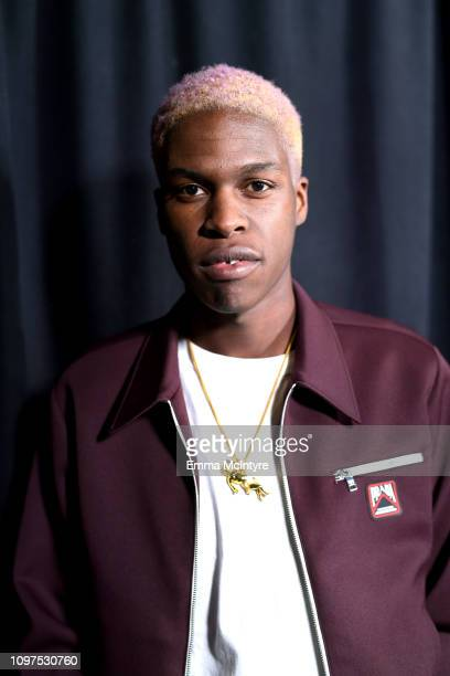 Daniel Caesar poses backstage at the 61st Annual GRAMMY Awards Premiere Ceremony at Microsoft Theater on February 10 2019 in Los Angeles California
