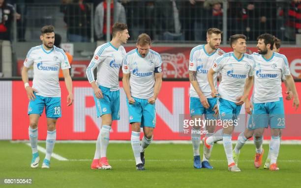 Daniel Caligiuri Leon Goretzka Benedikt Hoewedes Alessandro Schoepf Guido Burgstaller Benjamin Stambouli and Coke of Schalke elebrates after scoring...