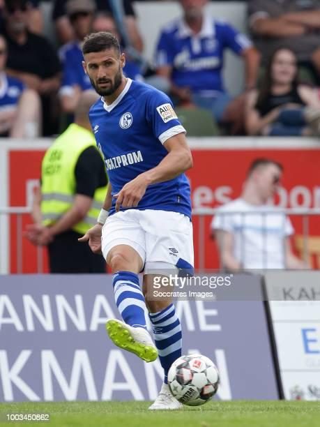 Daniel Caligiuri of Schalke 04 during the Club Friendly match between Schalke 04 v Schwarz Weiss Essen at the Uhlenkrugstadion on July 21 2018 in...