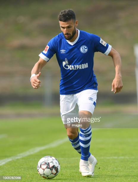 Daniel Caligiuri of Schalke controls the ball during the Friendly match between Schwarz Weiss Essen and FC Schalke 04 on July 21 2018 in Essen Germany