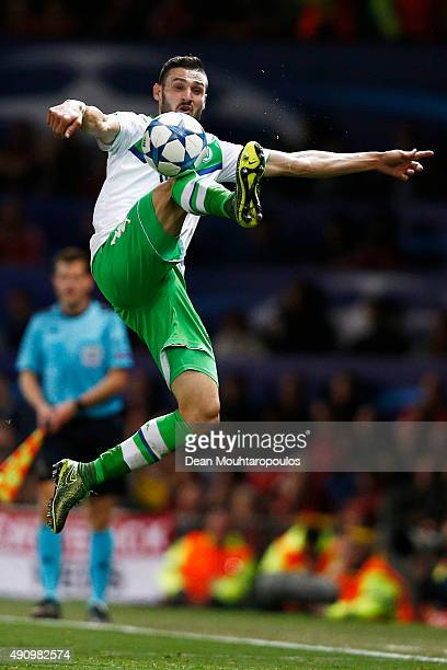 Daniel Caligiuri of VfL Wolfsburg in action during the UEFA Champions League Group B match between Manchester United FC and VfL Wolfsburg at Old...