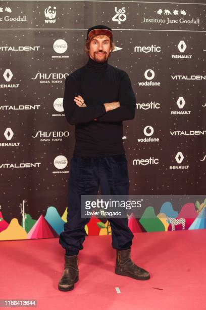 Daniel Carbonell aka Macaco attends 'Los40 music awards 2019' photocall at Wizink Center on November 08 2019 in Madrid Spain