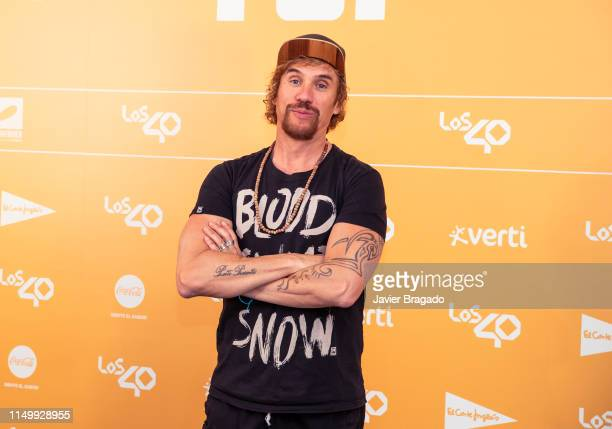 Daniel Carbonell aka Macaco attends LOS40 Primavera Pop festival at Madrid WiZink Center on May 17 2019 in Madrid Spain