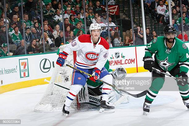 Daniel Carr of the Montreal Canadiens skates against the Dallas Stars at the American Airlines Center on December 19 2015 in Dallas Texas