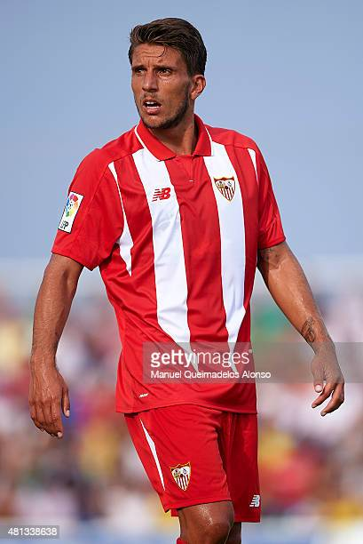 Daniel Carrico of Sevilla looks on during a Pre Season Friendly match between Sevilla and Alcorcon at Pinatar Arena Stadium on July 19 2015 in San...