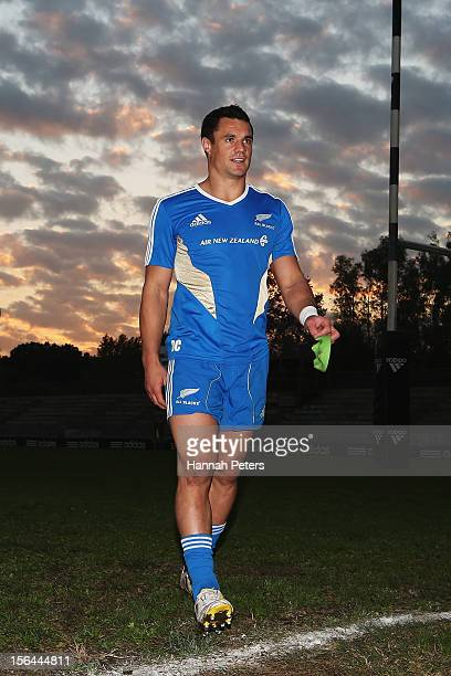 Daniel Carter departs a training session at Stadio Tre Fontane di Roma on November 15 2012 in Rome Italy