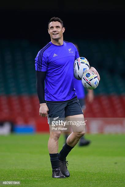 Daniel Carter of the All Blacks during a New Zealand All Blacks Captain's Run at Millenium Stadium on October 16 2015 in Cardiff United Kingdom