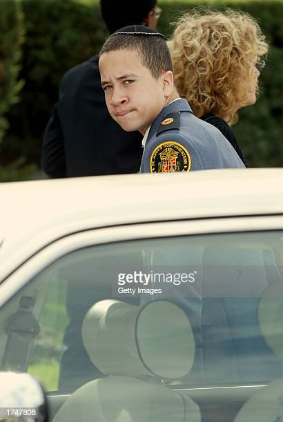 Daniel Carter son of actress Nell Carter attends his mother's funeral at Hillside Memorial Park on January 27 2003 in Culver City California Actress...