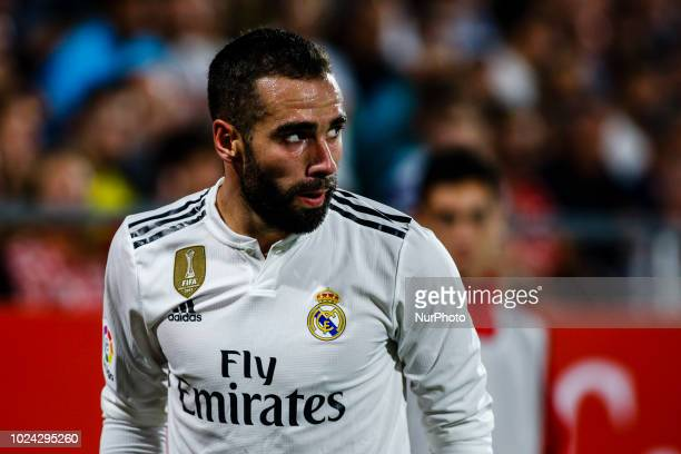 02 Daniel Carvajal from Spain of Real Madrid during the La Liga game between Girona FC against Real Madrid in Montilivi Stadium at Girona on 26 of...