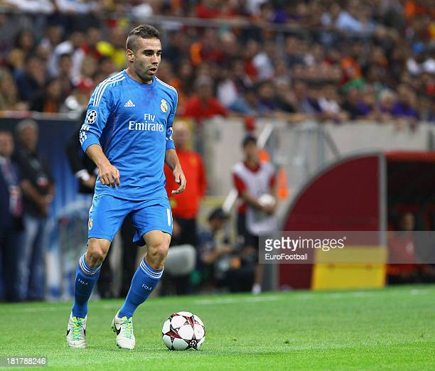 Daniel Carvajal of Real Madrid CF in action during the UEFA Champions League group stage match between Real Madrid CF and Galatasaray AS held on...