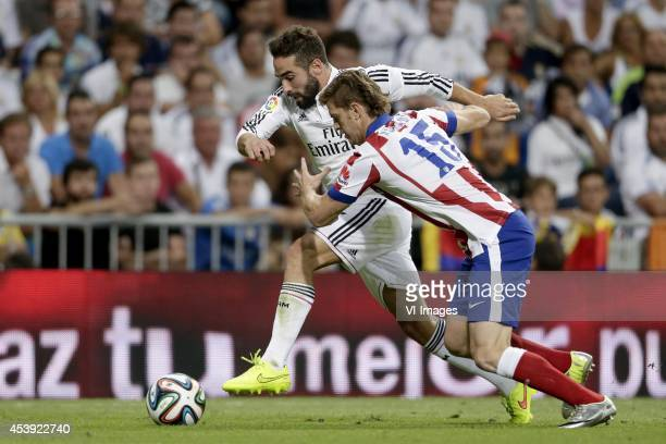 Daniel Carvajal of Real Madrid Cristian Ansaldi of Atletico de Madrid during the Spanisch Super Cup match between Real Madrid and Atletico Madrid at...