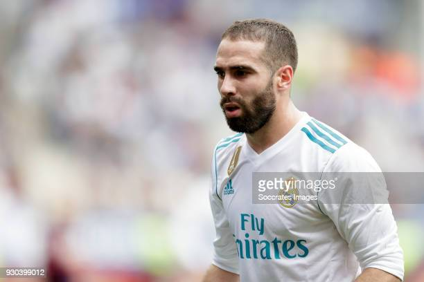 Daniel Carvajal of Real Madrid during the La Liga Santander match between Eibar v Real Madrid at the Estadio Municipal de Ipurua on March 10 2018 in...